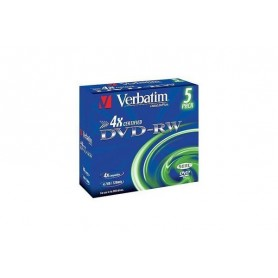 DVD VERBATIM DVD-RW 4.7GB 5PK P5 Jewel c