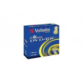 DVD VERBATIM DVD+RW 4.7GB 5PK P5 Jewel c