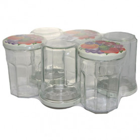 PACK 6 CONFITURIERS 385 ML COUVERCLE T