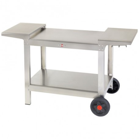 CHARIOT TOUT INOX 2 TABLETTES
